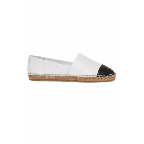 "Sandals Tory Burch ""Color Block"" white with black tip for women"