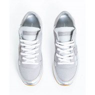 "Metal silver sneakers ""Tropez"" Philippe Model for women"