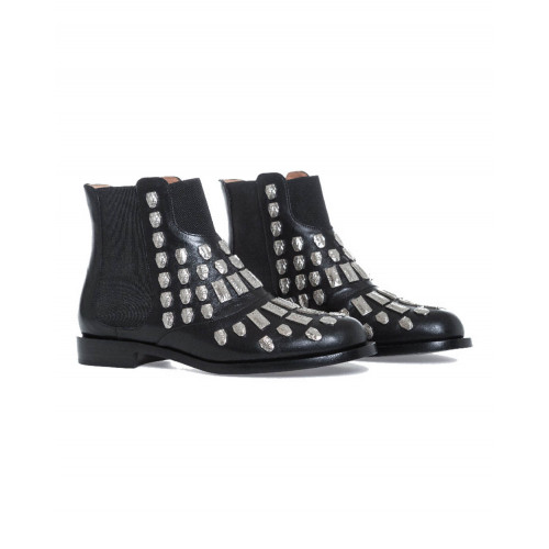 Achat Boots Samuele Failli black with metal nails for women - Jacques-loup