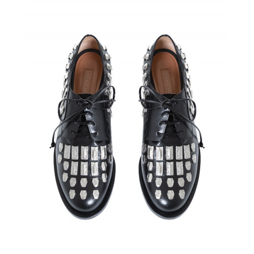 Derby shoes Samuele Failli black with nails for women