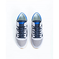 "Sneakers Philippe Model ""Tropez"" blue and grey for men"