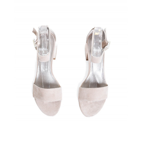 Achat Sandal Jacques Loup beige with ankle strap and 4,5cm high heel for women  - Jacques-loup