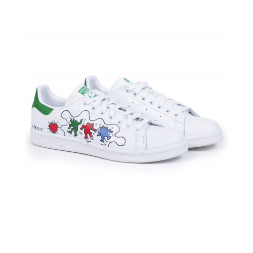 "Tennis shoes Adidas by Debsy - Stan Smith ""Keith Haring"" white for men"