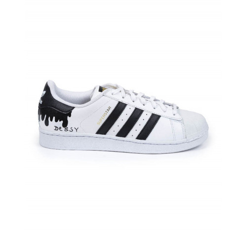 """Tennis shoes Adidas by Debsy Super Star """"Flowing black"""" for women"""