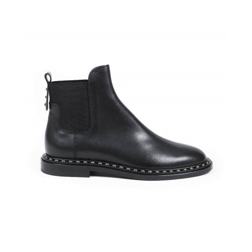 Achat Boots Jacques Loup black with elastic on the sides for women - Jacques-loup