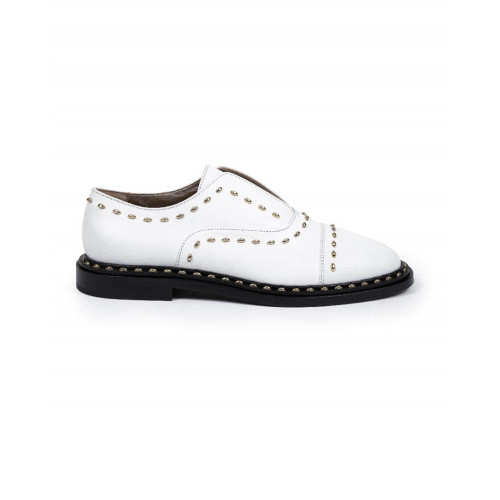 Achat Brogues shoes with no laces Jacques Loup white for women - Jacques-loup