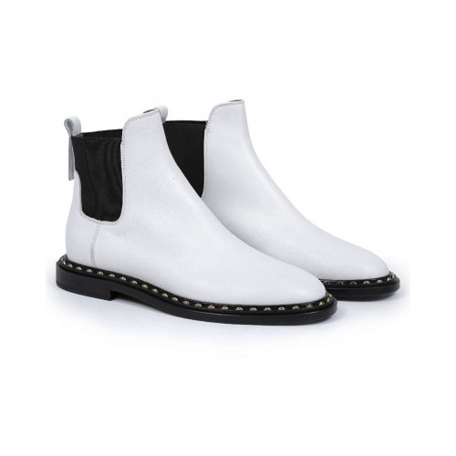 Achat Boots Jacques Loup white with elastic on the sides for women - Jacques-loup