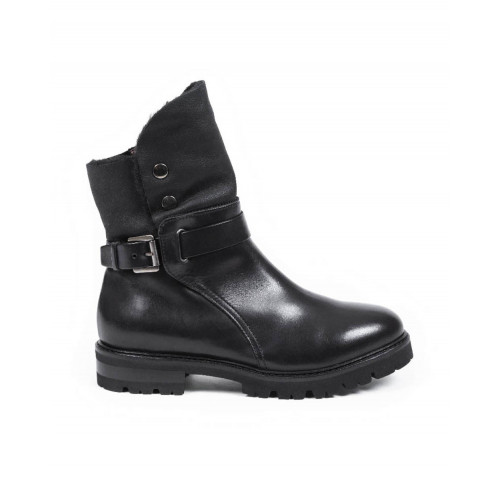 Achat High boots Jacques Loup black with buckle for women - Jacques-loup