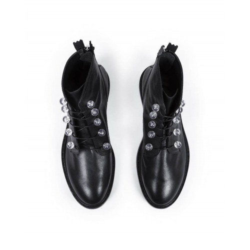 High boots with laces Jacques Loup black for women