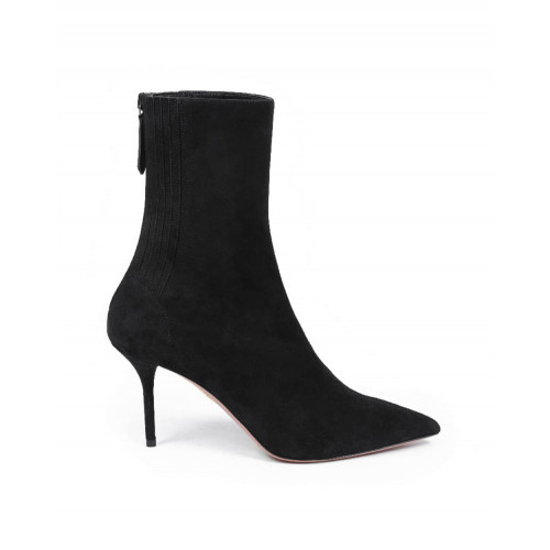 High pointed shoes Aquazzura black with 85mm heel for women