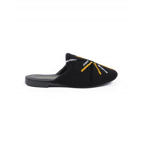 Achat Outdoor flat mule Avec Modération black with multicolor design for women - Jacques-loup