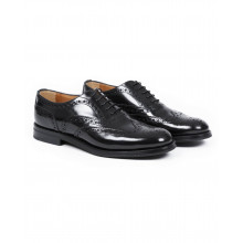 """Brogues shoes Church's """"Burwood"""" black with flowered tip for men"""