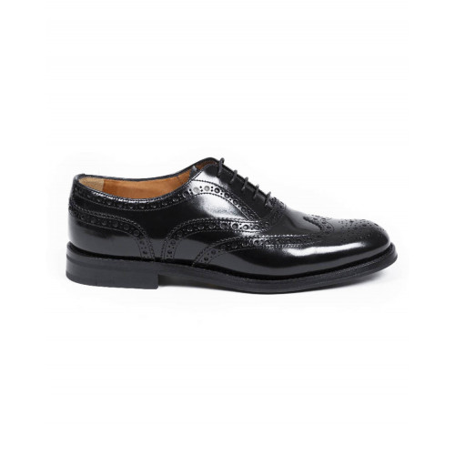 "Brogues shoes Church's ""Burwood"" black with flowered tip for men"