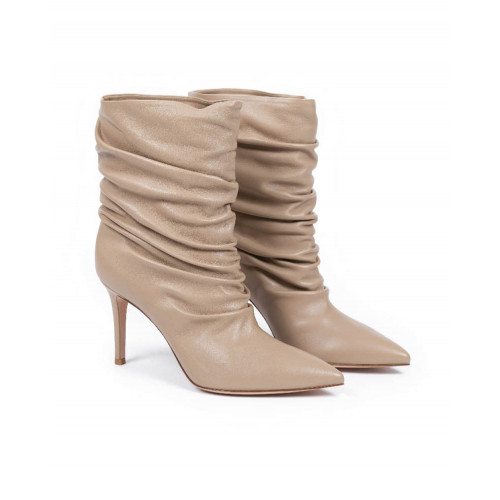 Achat Boots Gianvito Rossi Cécile creme color for women - Jacques-loup