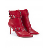 Achat Boots Gianvito Rossi Punk red with buckles for women - Jacques-loup