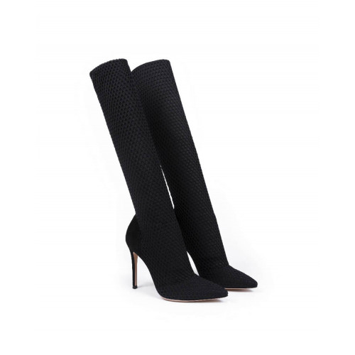 """Thigh boots Gianvito Rossi """"Vox"""" black for women"""