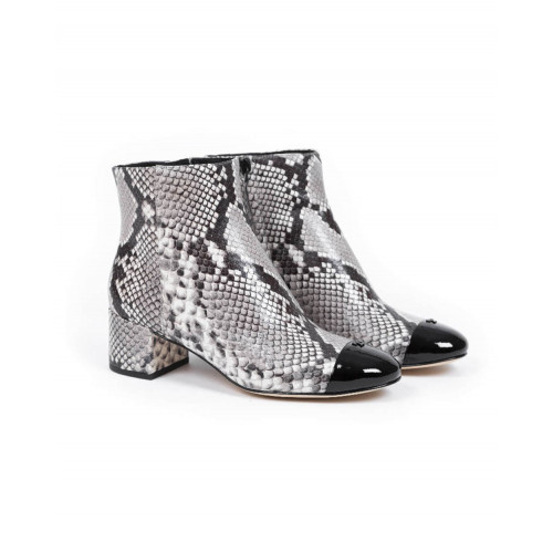 "High heel boots Tory Burch ""SHELBY"" with lizard print for women"