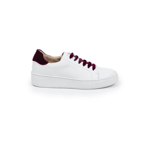 Achat Tennis hoes Mai Mai with with bordeaux laces and bordeaux velvet buttress for women - Jacques-loup