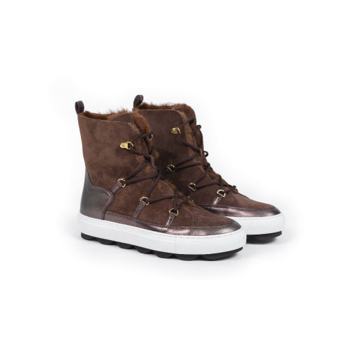 Moon boots Mai Mai brown with fur for women