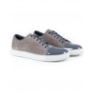 Tennis shoes Lanvin beige/grey with patent top for men