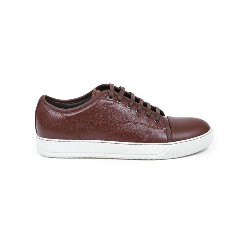 Tennis shoes Lanvin brown with white soles for men