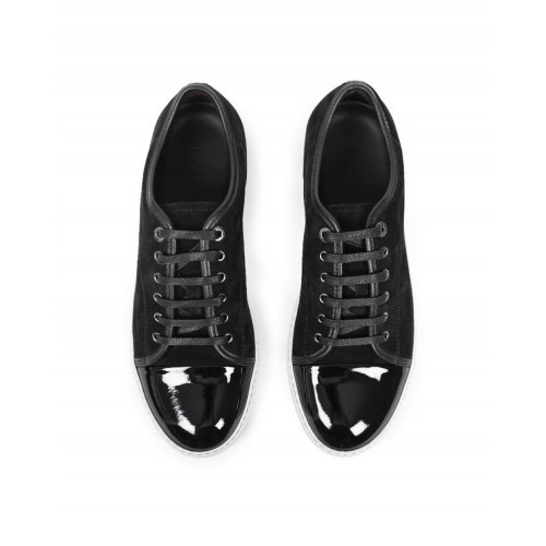 Achat Tennis shoes Lanvin black with patent top and white soles for men - Jacques-loup