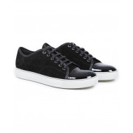 Tennis shoes Lanvin black with patent top and white soles for men