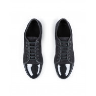 Tennis shoes Lanvin dark grey with patent top for men