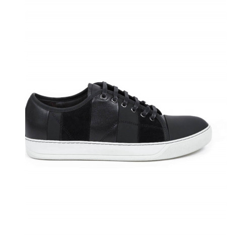 Tennis shoes Lanvin black with white soles for men