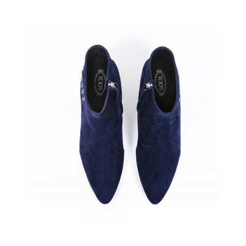Boots with small heel Tod's navy blue for women