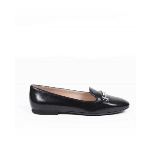 Achat Moccasins Tod's black with silver double T for women - Jacques-loup