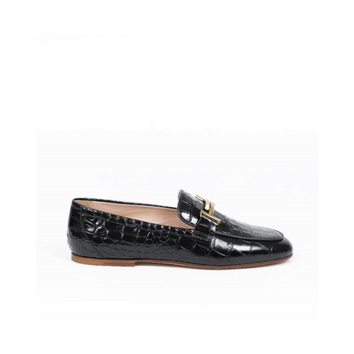 Achat Moccasins Tod's black with golden double T for women - Jacques-loup