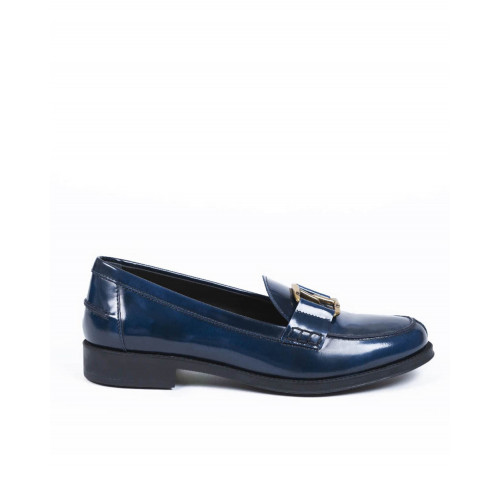 "Moccasins Tod's ""double T"" navy blue for women"