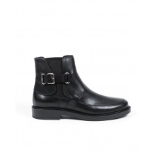 Boots Tod's black with buckle on the side for women