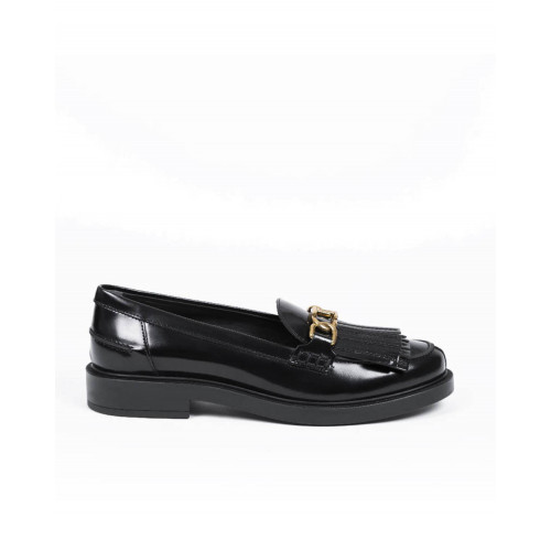 Moccasins Tod's black with metallic bit for women