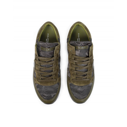 Achat Sneakers Philippe Model khaki with camouflage print for men - Jacques-loup