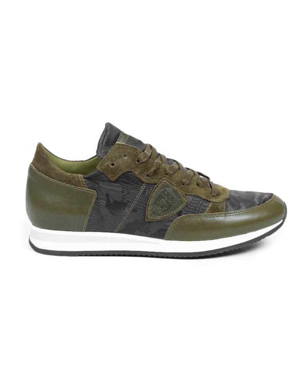 Basket Philippe Model camouflage kaki pour homme
