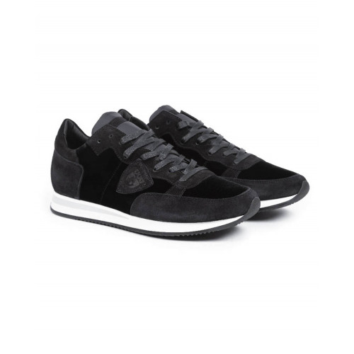 "Sneakers Philippe Model ""Tropez"" black with white sole for men"