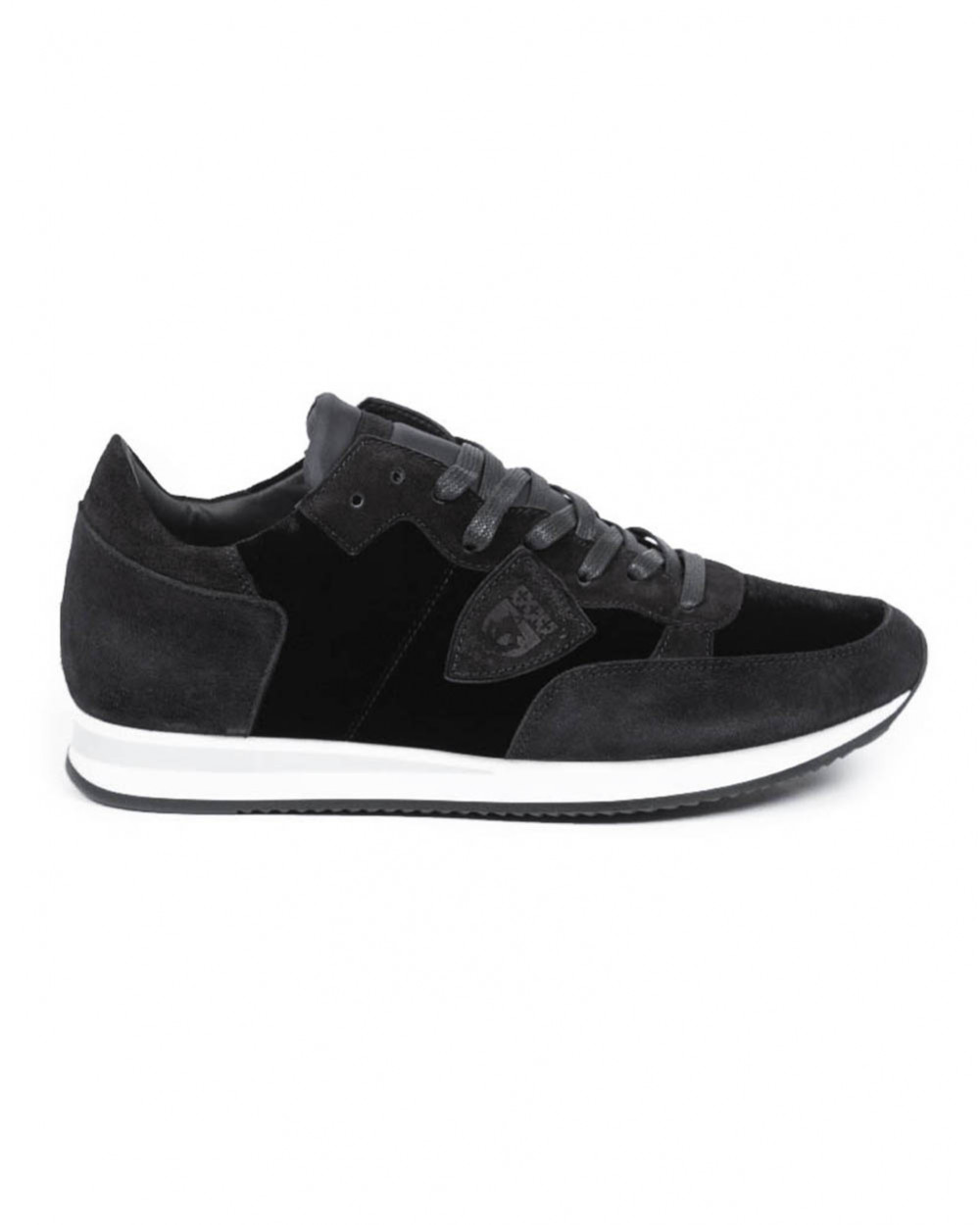 """Sneakers Philippe Model """"Tropez"""" black with white sole for men"""