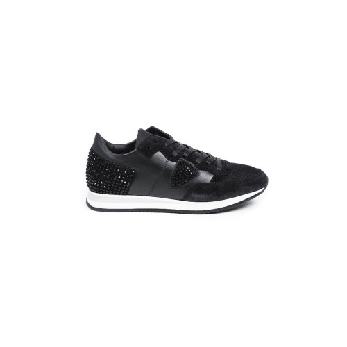 "Sneakers Philippe Model ""Tropez Diana"" black with glitter for women"