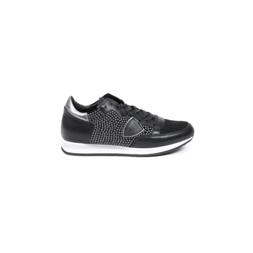"Sneakers Philippe Model 'Tropez"" black and studded for women"