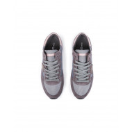 "Sneakers Philippe Model ""Tropez"" grey/pink for women"