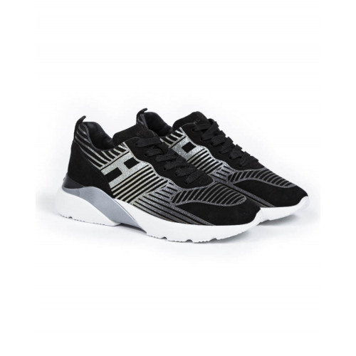 "Tennis shoes Hogan ""New Active"" black/silver for women"
