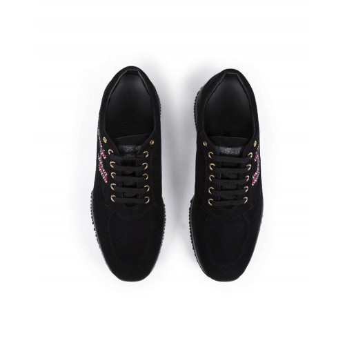 Achat Sneakers Hogan Interactive black with red H for women - Jacques-loup