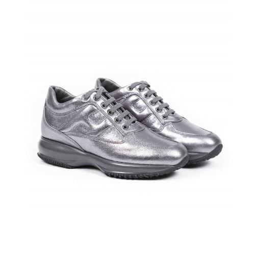 Achat Sneakers Hogan 'Interactive steel color for women - Jacques-loup