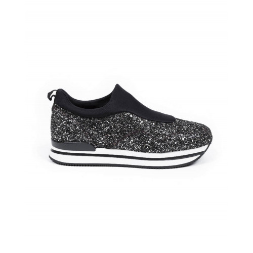 Achat Sneakers Hogan Slip on 222 silver/black for women - Jacques-loup
