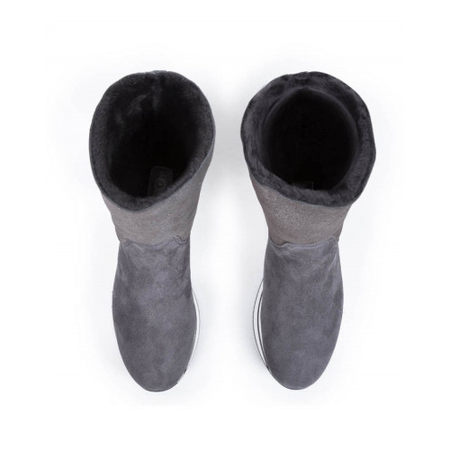 "Half boots Hogan ""222"" grey for women"