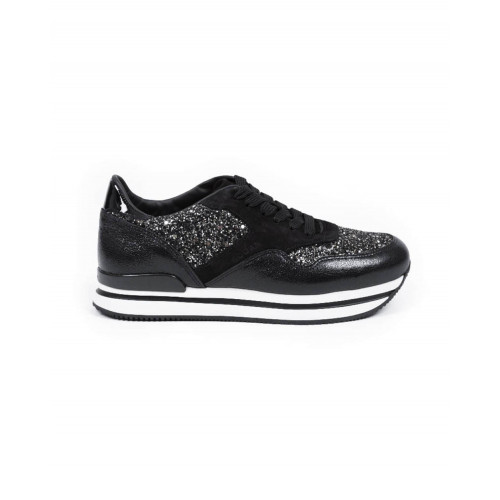 Achat Sneakers Hogan 222 black/silver for women - Jacques-loup
