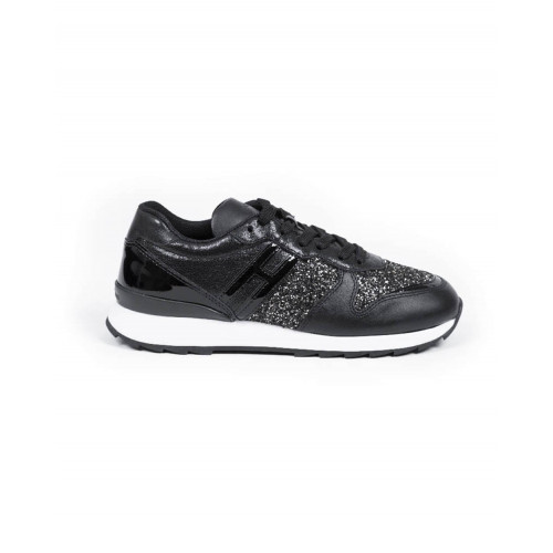 "Sneakers Hogan ""Running 261"" Black/silver for women"