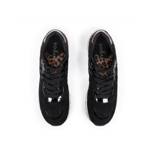 "Sneakers Hogan ""Running 261"" black/tawny color for women"
